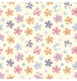 Grunge flower pattern vector image