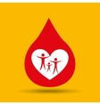 hands family safety care icon vector image