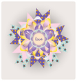 Magic love paper jewelry vector image