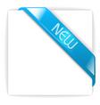 new glassy blue corner ribbon vector image