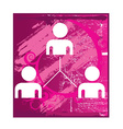 People connect icons vector image