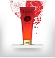 red packaging for cosmetics vector image