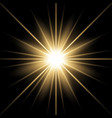 sunlight with lens flare effect golden color vector image