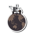 earth contamination icon vector image