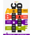 Letter steps banners infographics vector image