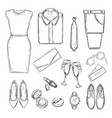 evening party clothes set vector image