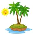 Tropical island cartoon vector image vector image