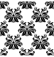Damask seamless pattern with decorative flowers vector image vector image