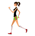 Slim girl runs vector image