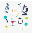 Set Science Lab Objects and Icons vector image