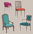 armchairsset vector image