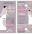 Bridal showerWedding cardsBridedecoration vector image