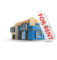 House for rent vector image vector image