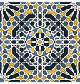 Arabesque seamless pattern in blue and yellow vector image