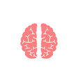 brain flat icon medical and school element vector image