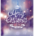 Christmas blurred city vector image