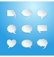 Empty speech bubbles vector image