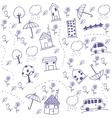 Funny draw kids doodle art vector image