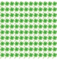 Green clover leaf pattern vector image