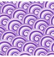 Purple seamless swirl pattern vector image