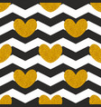 tile pattern with golden hearts vector image