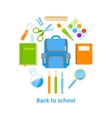 Back to school background design vector image