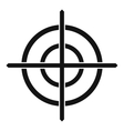 Target crosshair icon simple style vector image