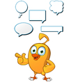 Cartoon Chick dialogue Set vector image