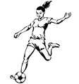 Soccer Football Female Player vector image