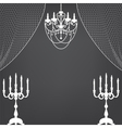 Vintage dark background with chandelier and vector image vector image