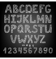 handwritten chalk ABC vector image
