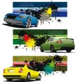 sportscar banner vector image vector image