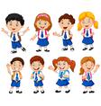 school children cartoon vector image