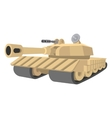 Heavy tank cartoon icon vector image