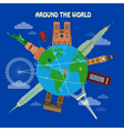 Traveling Around the World Banner vector image