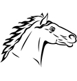 Horse tattoo vector image