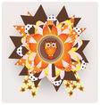 Halloween owl vector image vector image