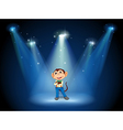 A stage with a monkey in the middle vector image