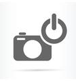 camera power on symbol icon vector image
