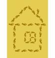 footprint house vector image