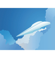 paper plane in a sky vector image