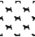 Pug icon in black style for web vector image