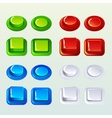Push Buttons For A Game Or Web Design Element vector image