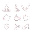 Yoga icons set vector image