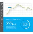 simple infographic dashboard template vector image