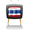 The flag of Thailand inside the television vector image vector image