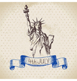 4th of July vintage background vector image