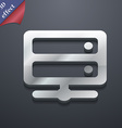 Server icon symbol 3D style Trendy modern design vector image