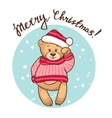 greeting card with teddy vector image vector image
