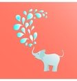 Baby elephant poster vector image